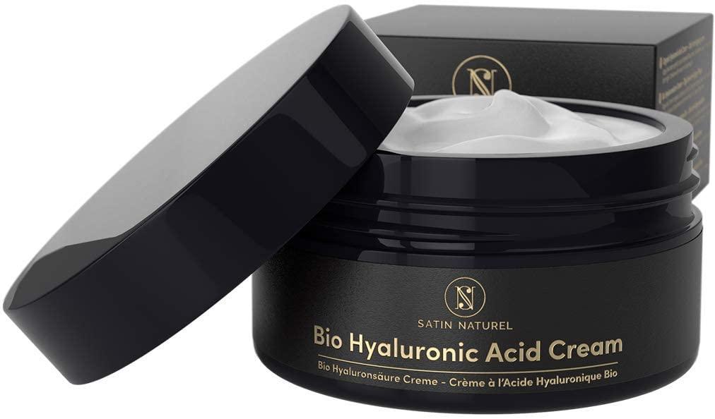 Crema facial de ácido hialurónico orgánico con áloe vera de SatinNaturel