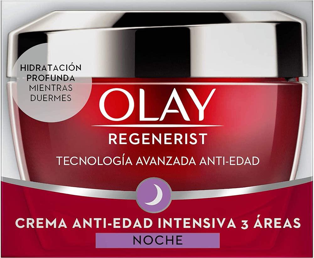 Crema anti-edad intensiva 3 áreas noche de Olay Regenerist