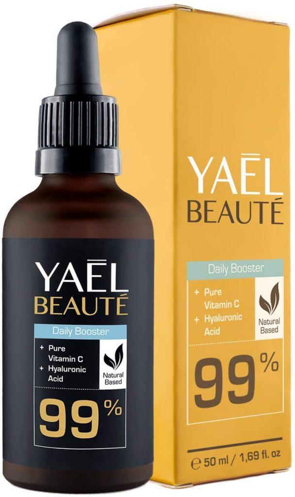 Sérum facial con vitamina C y ácido hialurónico puro de Yael Beauté