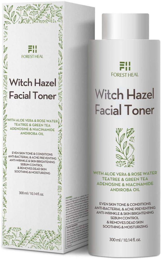 Tónico facial natural de hamamelis de Forest Heal