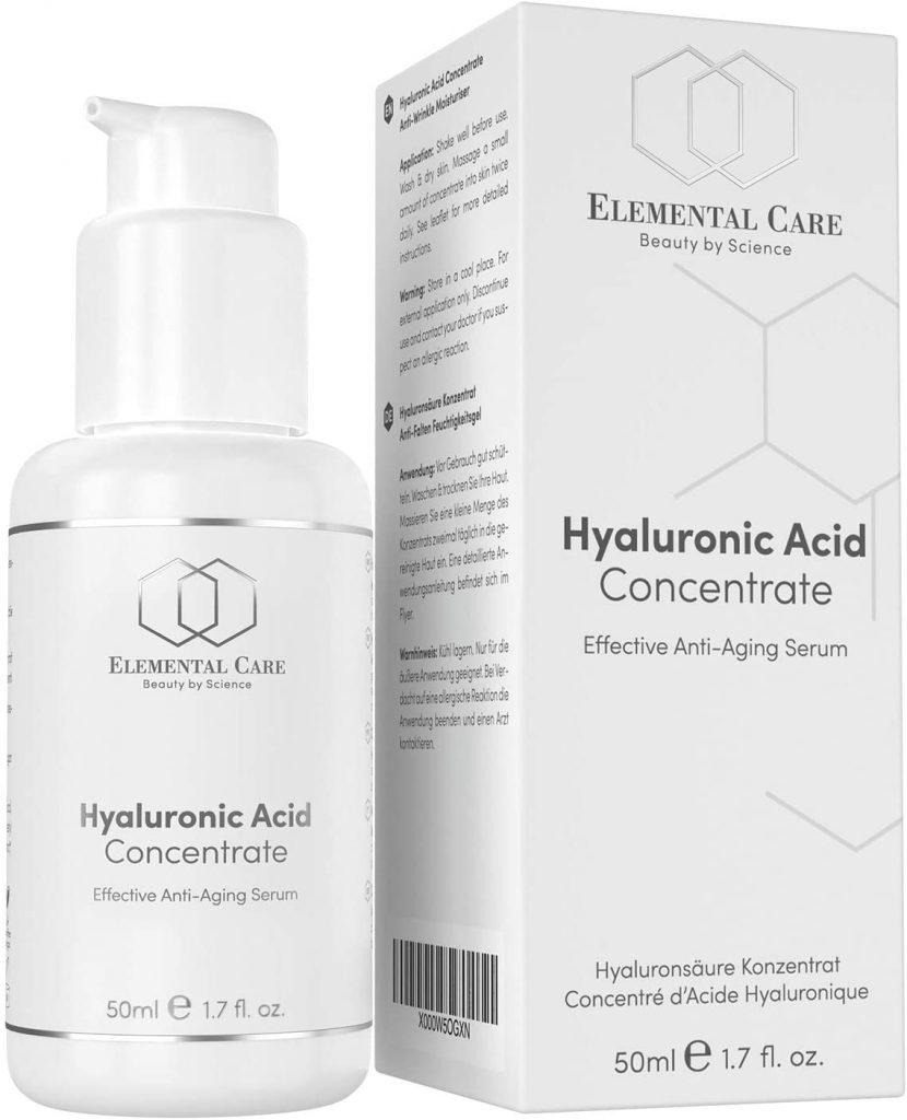 Crema facial de ácido hialurónico vegano de Elemental Care
